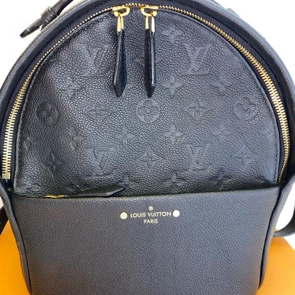 Auth Louis Vuitton Sorbonne medium empreinte noir
